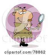 Royalty Free RF Clip Art Illustration Of A Hispanic Cartoon Investigator Man by Hit Toon