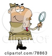 Royalty Free RF Clipart Illustration Of A Hispanic Cartoon Detective Man by Hit Toon