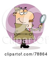 Royalty Free RF Clipart Illustration Of A Caucasian Cartoon Investigator Man by Hit Toon
