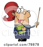 Royalty Free RF Clipart Illustration Of A Hispanic Cartoon Teacher Woman by Hit Toon