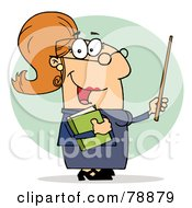 Royalty Free RF Clipart Illustration Of A Caucasian Cartoon Professor Woman