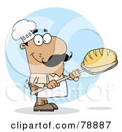 Royalty Free RF Clipart Illustration Of A Hispanic Cartoon Bread Maker Man by Hit Toon