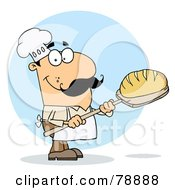 Royalty Free RF Clipart Illustration Of A Caucasian Cartoon Bread Maker Man by Hit Toon
