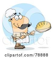Royalty Free RF Clipart Illustration Of A Caucasian Cartoon Bread Maker Man