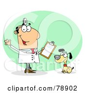 Royalty Free RF Clipart Illustration Of A Caucasian Cartoon Canine Veterinarian Man by Hit Toon