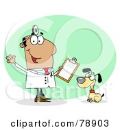 Royalty Free RF Clipart Illustration Of A Hispanic Cartoon Canine Veterinarian Man by Hit Toon