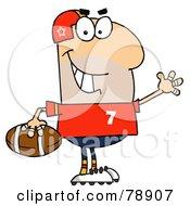 Royalty Free RF Clipart Illustration Of A Caucasian Cartoon Football Man by Hit Toon