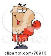 Royalty Free RF Clipart Illustration Of A Hispanic Cartoon Boxer Man