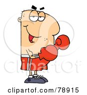 Caucasian Cartoon Boxer Man by Hit Toon