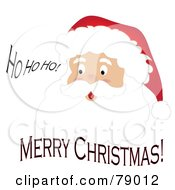 Royalty Free RF Clipart Illustration Of A Ho Ho Ho Merry Christmas Father Christmas Face by Pams Clipart