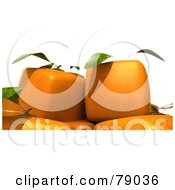 Royalty Free RF Clipart Illustration Of A Group Of 3d Genetically Modified Cubic Orange Fruits Version 2