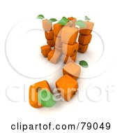 Royalty Free RF Clipart Illustration Of A Group Of 3d Genetically Modified Cubic Orange Fruits Version 4