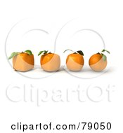 Royalty Free RF Clipart Illustration Of A Row Of 3d Oranges Evolving From Round To Genetically Modified Cubes Version 2