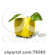 Whole 3d Genetically Modified Cubic Golden Delicious Apple