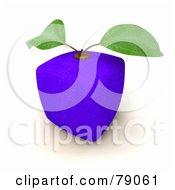 3d Blue Genetically Modified Orange Citrus Fruit