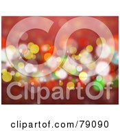 Royalty Free RF Clipart Illustration Of A Red Orange Yellow And Green Sparkly Light Background
