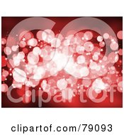 Royalty Free RF Clipart Illustration Of A Red Sparkly Light Background With Tiny Stars