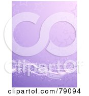 Magical Sparkly Wave Flowing Along A Purple Starry Background