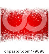 Royalty Free RF Clipart Illustration Of A White Snowflake Borders Over A Red Target Background by KJ Pargeter