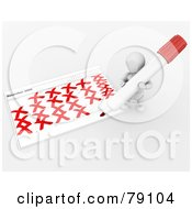Royalty Free RF Clipart Illustration Of A 3d White Character Checking Off Calendar Days In December