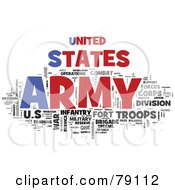 Royalty Free RF Clipart Illustration Of A Word Collage Of Words United States Army by MacX