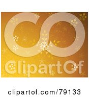 Royalty Free RF Clipart Illustration Of A Golden Ornate Floral Snowflake Christmas Background