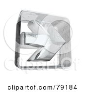 Royalty Free RF Clipart Illustration Of A Frozen Ice Right 3d Arrow Version 1
