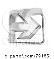 Royalty Free RF Clip Art Illustration Of A Frozen Ice Right 3d Arrow Version 2 by Frank Boston