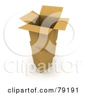 Royalty Free RF Clipart Illustration Of A 3d Empty Parcel Cardboard Box On Sealed Boxes
