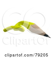 Royalty Free RF Clipart Illustration Of A 3d Twisted Yellow Writing Pencil Version 2