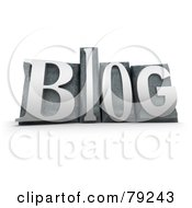 Royalty Free RF Clipart Illustration Of A 3d Typeset Word Blog Version 4