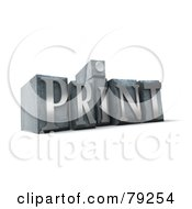 Royalty Free RF Clipart Illustration Of A 3d Typeset Word Print Version 6