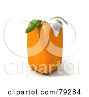 Single 3d Cubic Genetically Modified Orange Juice Carton