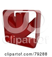 Royalty Free RF Clipart Illustration Of A Red Down 3d Arrow
