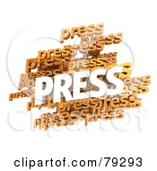 Royalty Free RF Clipart Illustration Of A 3d Collage Of White And Orange Press