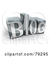 Royalty Free RF Clipart Illustration Of A 3d Typeset Word Blog Version 1
