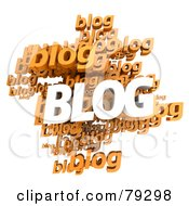 Royalty Free RF Clipart Illustration Of A 3d Collage Of White And Orange Blogs