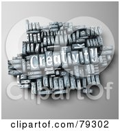 Royalty Free RF Clipart Illustration Of A 3d Group Of Typeset Blocks With CREATIVITY In The Center