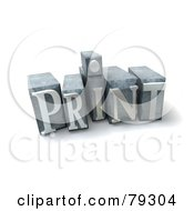 Royalty Free RF Clipart Illustration Of A 3d Typeset Word Print Version 2