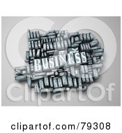 Royalty Free RF Clipart Illustration Of A 3d Group Of Typeset Blocks With BUSINESS In The Center