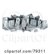 Royalty Free RF Clipart Illustration Of A 3d Typeset Word Imprimer