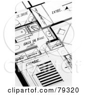 Royalty Free RF Clipart Illustration Of Black And White Apartment Building Blueprints by Frank Boston
