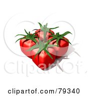 Group Of Four 3d Cubic Genetically Modified Tomatoes