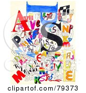 Royalty Free RF Clipart Illustration Of A Collage Of Colorful Sketched Letters Over White