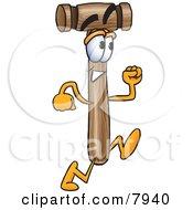 Mallet Mascot Cartoon Character Running