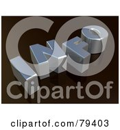 Royalty Free RF Stock Illustration Of A 3d Silver Info Word On Black