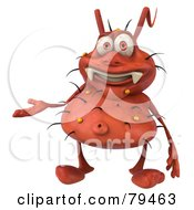 Royalty Free RF Clipart Illustration Of A 3d Rodney Germ Character Gesturing