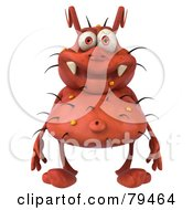 Royalty Free RF Clipart Illustration Of A 3d Rodney Germ Character Standing And Facing Front by Julos