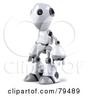 Royalty Free RF Clipart Illustration Of A 3d Robot Boy Character Facing Left by Julos