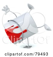 Royalty Free RF Clipart Illustration Of A 3d Dripping Paint Can Character Doing A Hand Stand